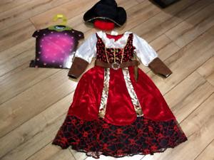 ❤️ Costume d'Halloween de pirate pour fille 5 - 6 ans