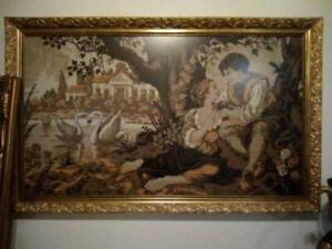 130/80 cm antique style tapestry picture gold large frame
