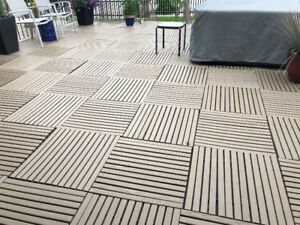 Decorative Resin All Season Deck Tiles
