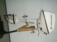 1965  5 hp    johnson outboard seahorse