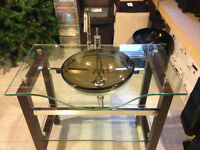 Glass Vanity   pd. $2,000   selling for $400
