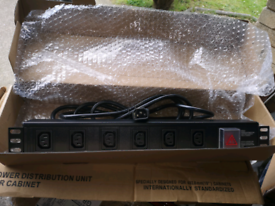 """3 x 19"""" Rack mount PDU 6 way extension leads for Cabinet"""