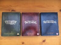 Lord of the Rings 1-3 Extended Edition DVDs
