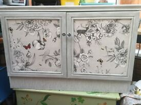 Unique Sideboard, Stag topped mottled effect Unit Shabby & Chic SOLD