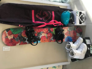 Women's EUC complete snowboarding package, size 8