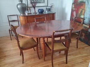 Table à diner et 6 chaises