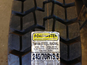 Brand new 245/70R19.5 RoadMaster tire