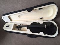 Black Violin Full Size With Bow And Case For Sale