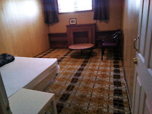 A Large Room in a Basement: Fully furnished; amenities included