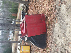 8ft snow bucket with pusher bucket,alo quick attach