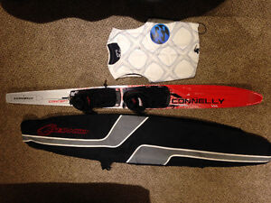 Connelly 166cm slalom waterski, with dbl boot and carrying bag