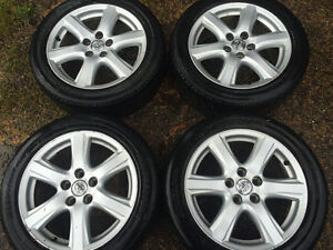 Set of 17 inch and 16 inch rims