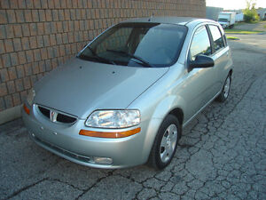 2005 PONTIAC  WAVE 4 DR HATCHBACK....SAFETIED & E-TESTED