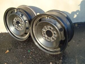 "GENUINE FORD F150 17"" 6 BOLT STEEL RIMS WITH SENSORS"
