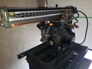"""Sears craftsmen10""""  radial arm saw 125 if pick up today"""