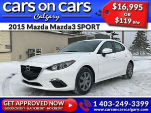 2015 Mazda Mazda3 SPORT HATCH w/BackUp Cam, USB Connect, Satelli