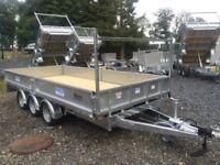 Tri axle trailer flatbed Dale Kane dropside trailer