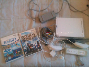 White Wii + 2 games for $130