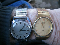 Watches Times and Seiko Self Wind and battery Working