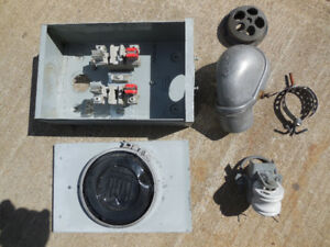 100 amp meter base and parts