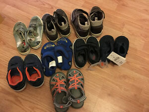 8 pairs of Size 6-10 boy shoes sale all for 15