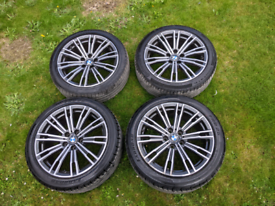 """Genuine BMW 18"""" G20 G21 3 Series 4 Series 790M Alloy Wheels and Tyres"""