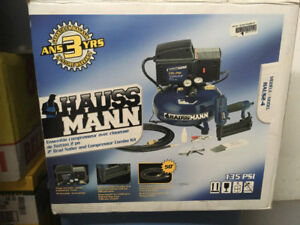 HAUSSMANN Air Compressor with 2-in. Brad Nailer
