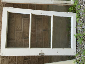 "Antique Window Panes Frames Glass 2 Set 21"" 35"" Antique Decor"