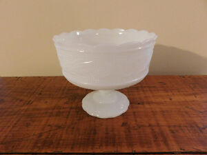 Vintage Milk Glass Vase ,Candy Dish and Hobnail Bud Vase