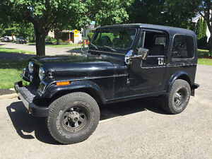1985 JEEP CJ7 V6 214000KM AUTOMATIQUE 4X4 CJ