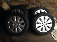 Vauxhall astra vectra 5 stud alloy wheels and tyres 5x110