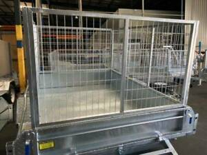 7x5 Brand New Box Trailer with Cage
