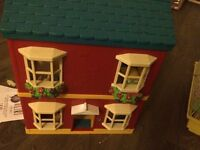 Dolls house with sounds and lights toy doll imaginary play house