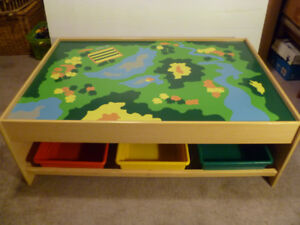 Train/Activity Table with storage bins
