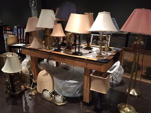 One Dozen Chandeliers, Wall Sconce, Table and Floor Lamps!