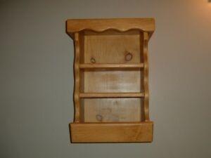 Wooden (Oak) shelves