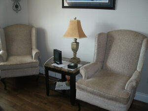 2 mint cond wing back chairs