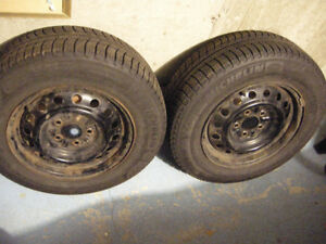 4 tires winter Michelin X ice Toyota Camry with 3 rims