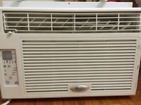 Whirlpool 8000btu air conditioner for sale. Like new