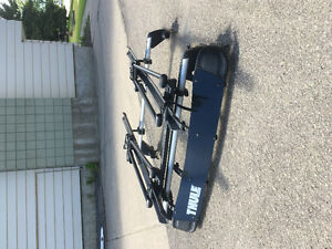VW Roof Rack w/ Thule Windcover and Dual Bike Rack Attachment