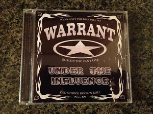 Warrant - Under the Influence CD** hard to find