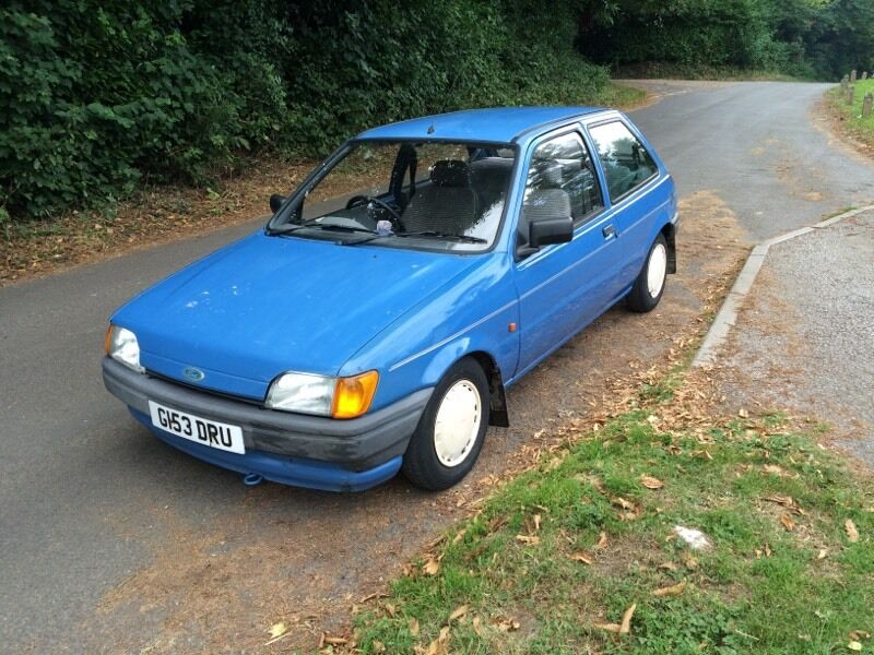1990 ford fiesta mk3 1 1 popular plus long mot low mileage. Black Bedroom Furniture Sets. Home Design Ideas