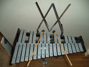 """Xylophone Kit W/ Cases  & 4"""" Steel Snare Drum"""