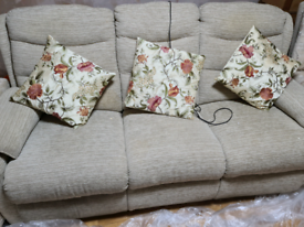 Reclining sofa and two cosy chairs