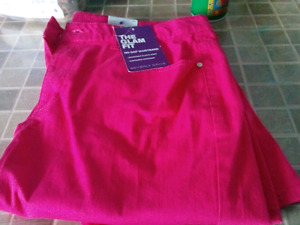 Ladies Cranberry colored jeans