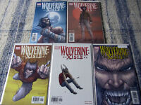 Complete set (1-5) Wolverine: Xisle comic books: great condition
