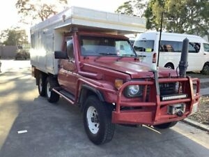 1991 Toyota Landcruiser HZJ75RP (4x4) Red 5 Speed Manual 4x4 Cab Chassis