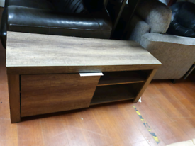 52. Grey wood TV unit