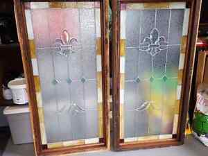 Beautiful Fleur De Lis Stained Glass Windows