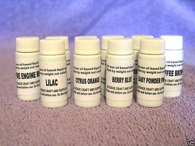6 Candle Liquid Dyes .2oz. (1/5 oz.) - U - Pick Colors